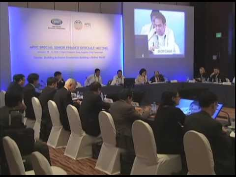 APEC Special Senior Finance Officials Meeting (SFOM) 1/22/2015