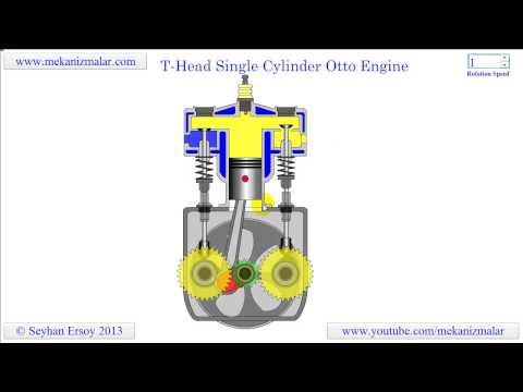 T head single cylinder otto engine