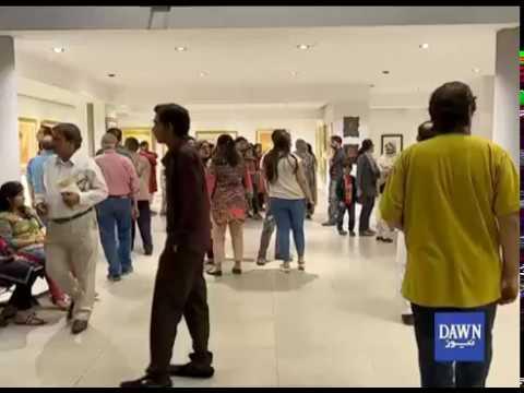 Artist Show Their Work in Karachi's Local Art Gallery