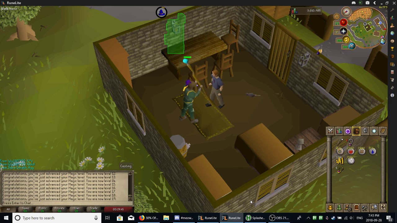 Old School Runescape Auto Splasher with AHK