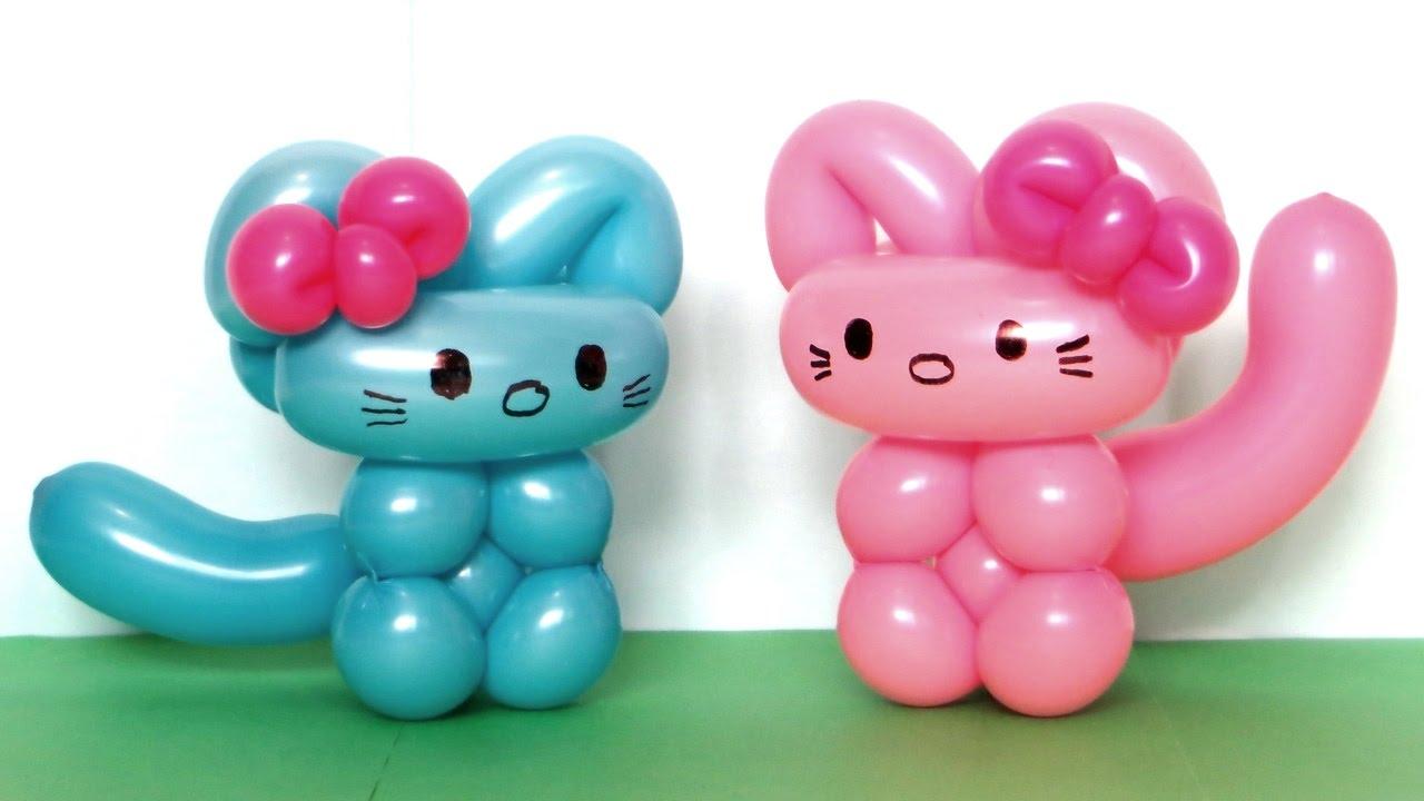 One Balloon Cat Balloon Animal Lessons 7 Youtube Cat Balloons Twisting Balloons Easy Balloon Animals