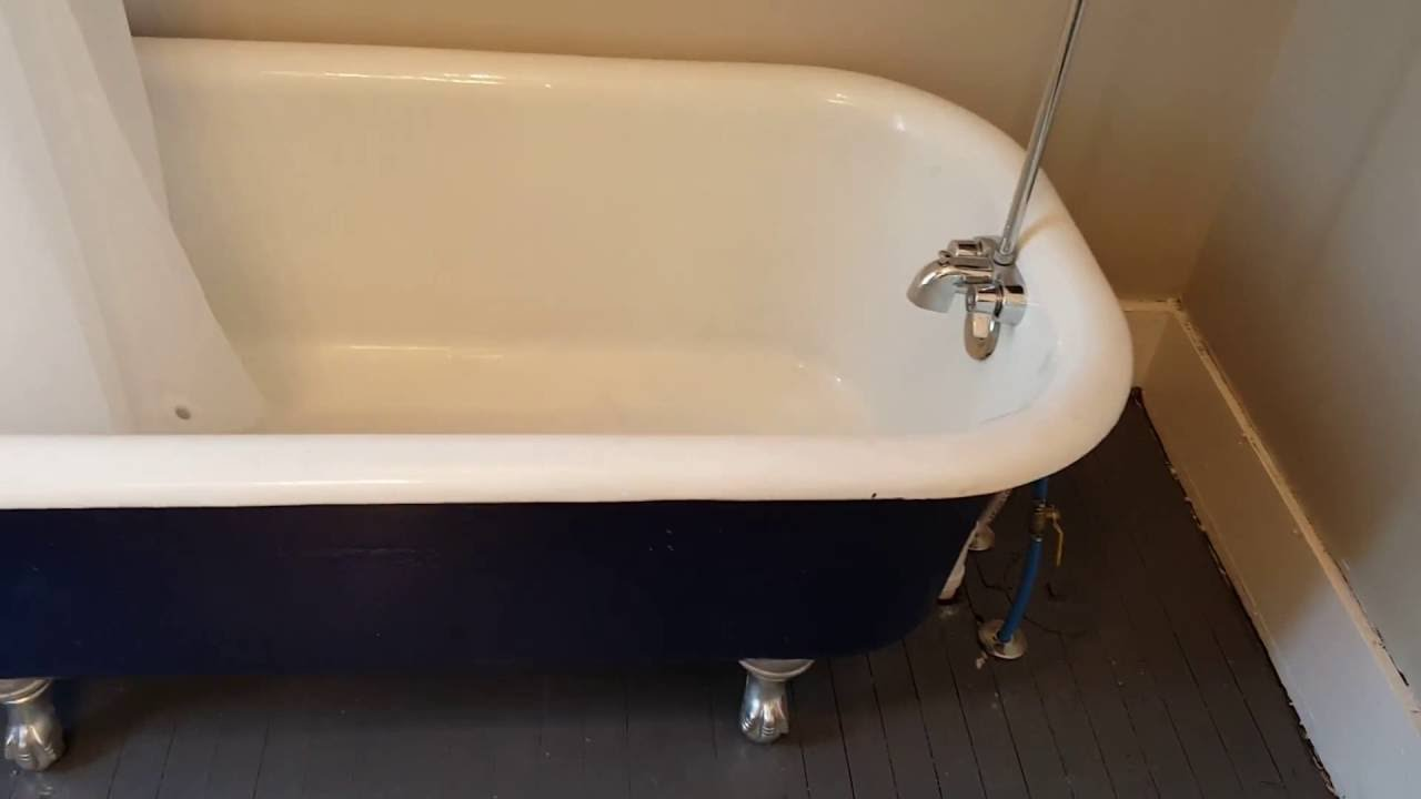 How to restore a claw foot tub   YouTube