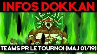 Quels teams pour le tournoi (maj 01 2019) - DOKKAN