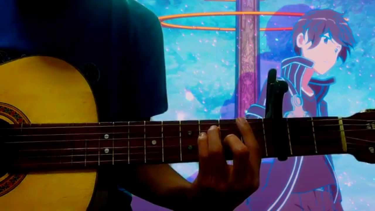 Guitar Cover Yume Sekai Sword Art Online Tabs Youtube