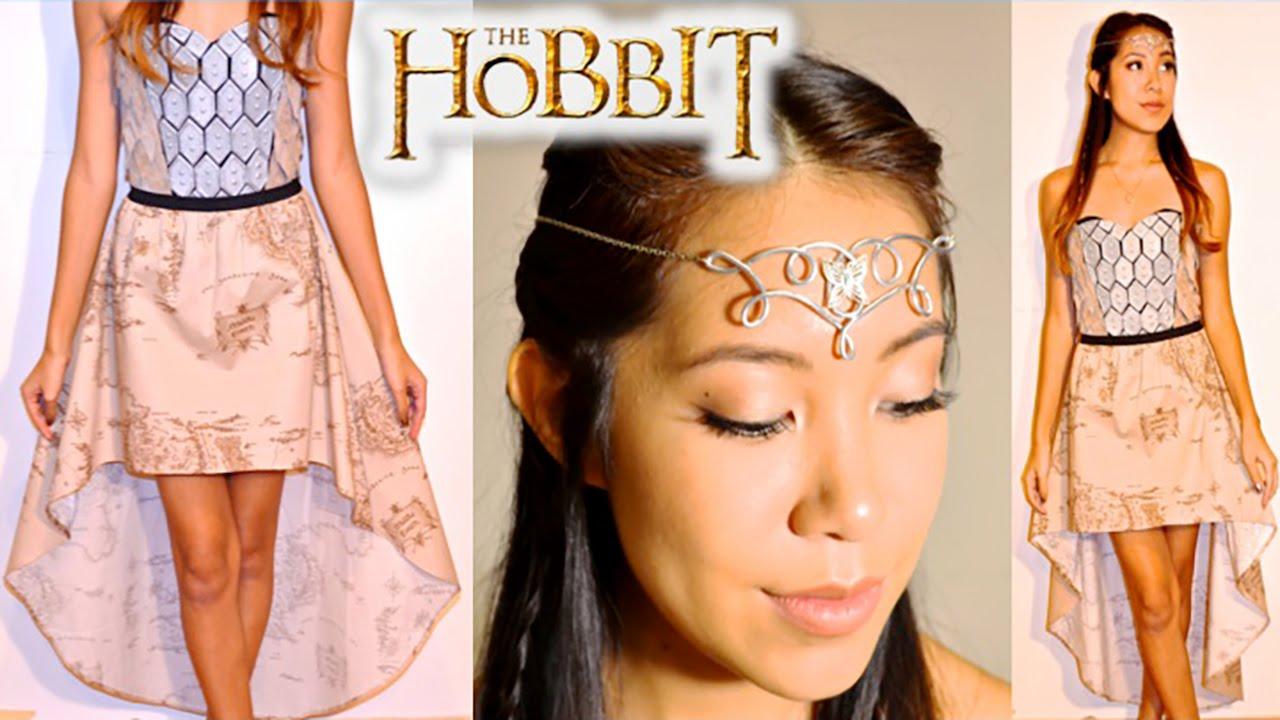 diy the hobbit inspired elvish headpiece high low skirt no sew