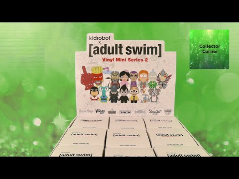 Kidrobot Adult Swim Vinyl Mini Figure Series 2 Unboxing Review | CollectorCorner