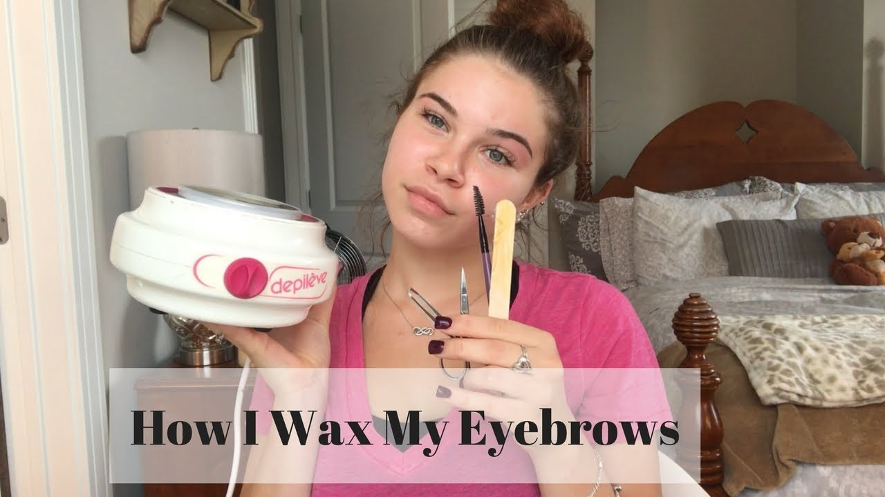 HOW TO WAX YOUR EYEBROWS AT HOME! - YouTube