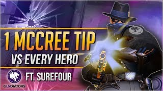 1 McCREE TIP for EVERY HERO ft. Surefour (LA Gladiators)