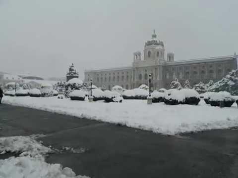 Vienna Hofburg Heldenplatz Winter