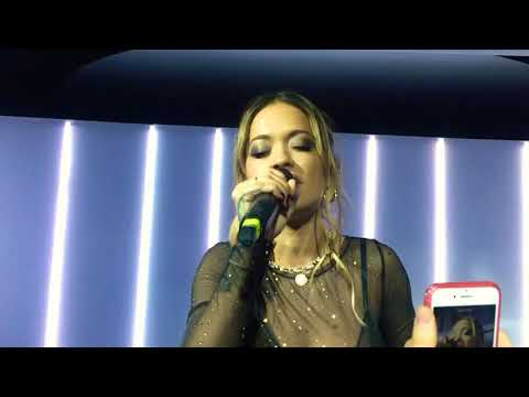 Rita Ora - Anywhere ( Live at Tezenis Private Party in Moscow ) 30.11.17