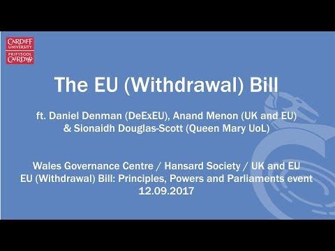On Writing the  EU (Withdrawal) Bill - DExEU