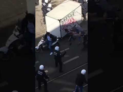 PROTESTS IN BELGIUM area Anderlecht, Bruxelles.