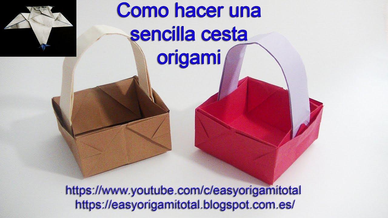 Como hacer una cesta de papel en origami muy facil youtube - Como hacer una claraboya ...