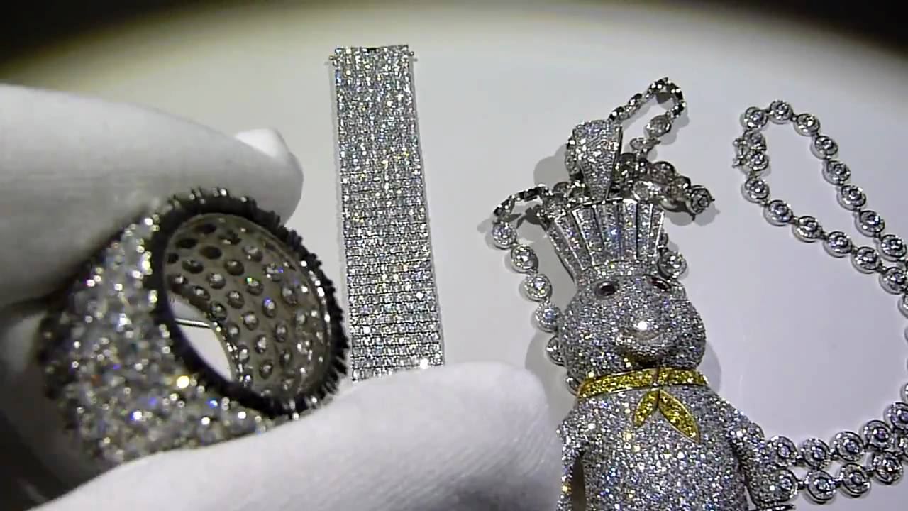 1750 combo deal 925 silver custom dough boy lab diamond for Custom lab made hip hop jewelry