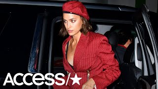 Irina Shayk Steals The Spotlight From Boyfriend Bradley Cooper In A Fiery Red Dress | Access