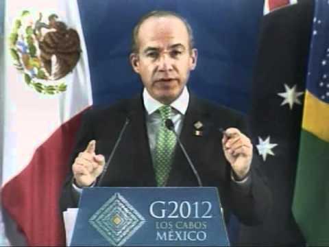 G20 Closing Press Conference  of the President Felipe Calderón