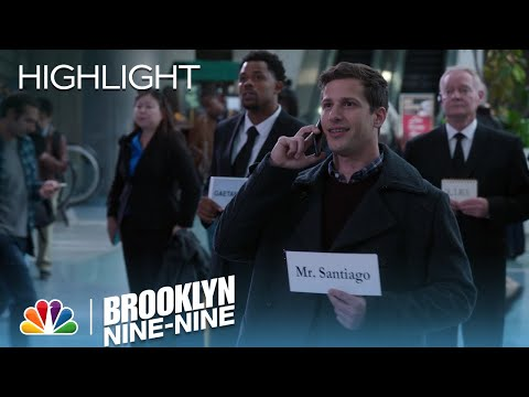 Jake Waits For Amy's Dad At The Airport | Season 4 Ep. 7 | BROOKLYN NINE-NINE