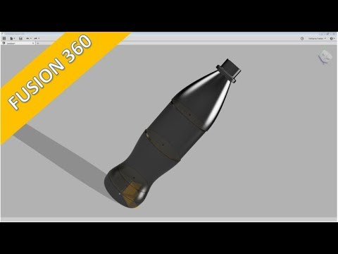 PET - Bottle Part 1 - Autodesk Fusion 360 Training - Surfaces