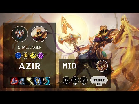 Azir Mid vs Ziggs - EUW Challenger Patch 10.13