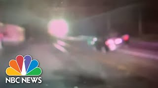 Dashcam Video Shows Train Collide With N.J. Car Stuck On Tracks | NBC News