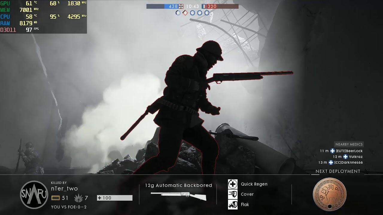 Battlefield 1 Benchmark Fps Test I5-9600K RTX 2070