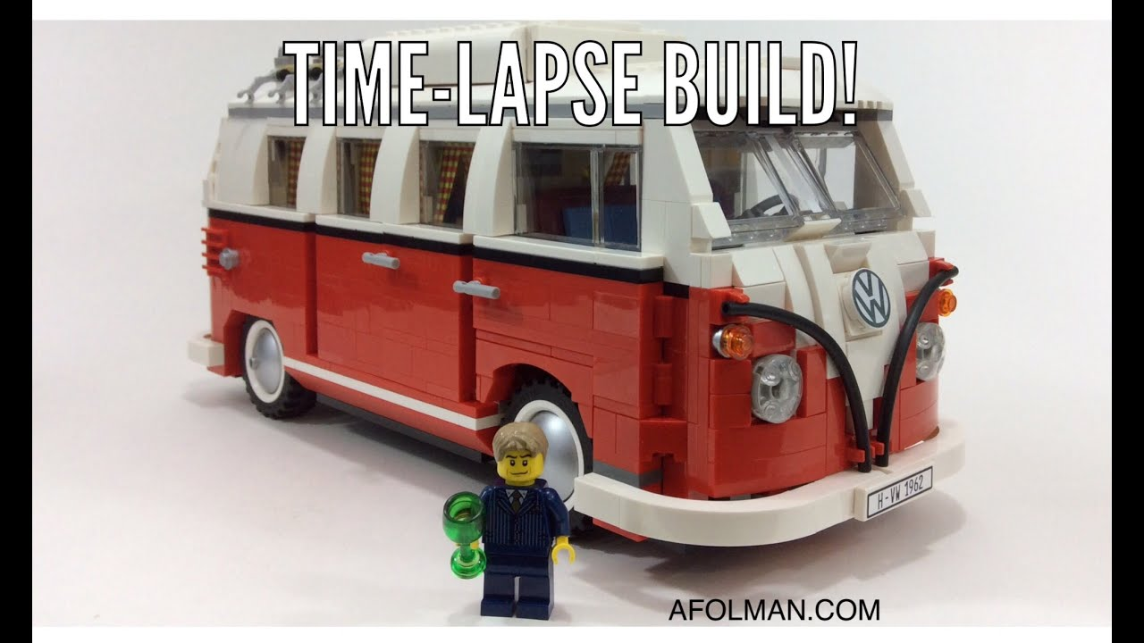 lego time lapse lego creator 10220 volkswagen t1 camper. Black Bedroom Furniture Sets. Home Design Ideas
