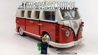 Lego Time-lapse: Lego Creator 10220 Volkswagen T1 Camper Van - Lego Speed Build