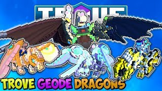4 NEW FREE CRAFTABLE DRAGONS COMING TO TROVE GEODE!! NEW RAREST DRAGON IN THE GAME!?