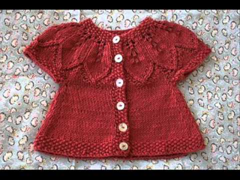 Hand Knitted Crochet Baby Sweater Cardigan Sweater Made Easy Youtube
