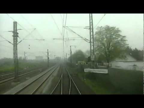 Germany: Cologne-Düsseldorf by Train 125 MPH in the 1990's Köln-Düsseldorf  per Bahn 200 Km/st.