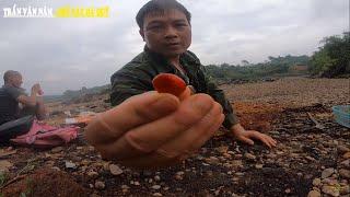 Đào Được Viên Đá RUBI Đỏ, Trực Tiếp Ở Bãi Đá Đỏ Yên Bái. Hành Trình Đá Đỏ P1.
