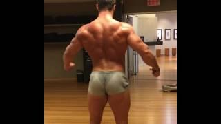 Erik Janicki post-workout posing