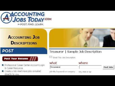 Treasurer Job Description - YouTube - treasurer job description