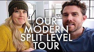 MID CENTURY MODERN SPLIT-LEVEL HOUSE TOUR : Traveling Family of 11