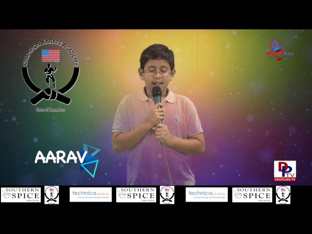 "Aarav Kansupada speaking about ""Good manners"" in Talking Bee - Public Speaking competitions 2016"