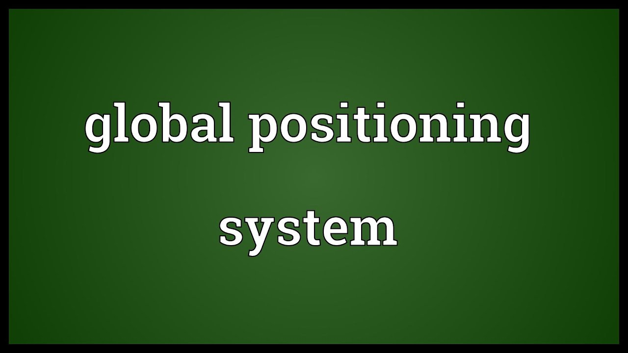 global positioning system meaning youtube