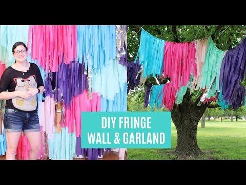 Fringe Backdrop DIY | Tassel Backdrop | Fringe Garland