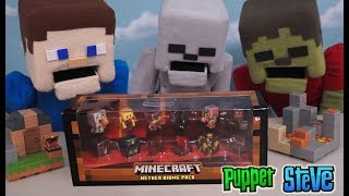 Minecraft Nether Biome mini figures Collection Gift Pack Series Playsets Unboxing