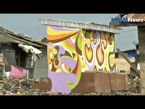 Global news   Colorful murals give dignity to Lagos slum residents