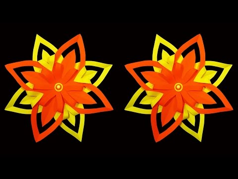 How To Make 3d Paper Snowflake Flower Diy Hd
