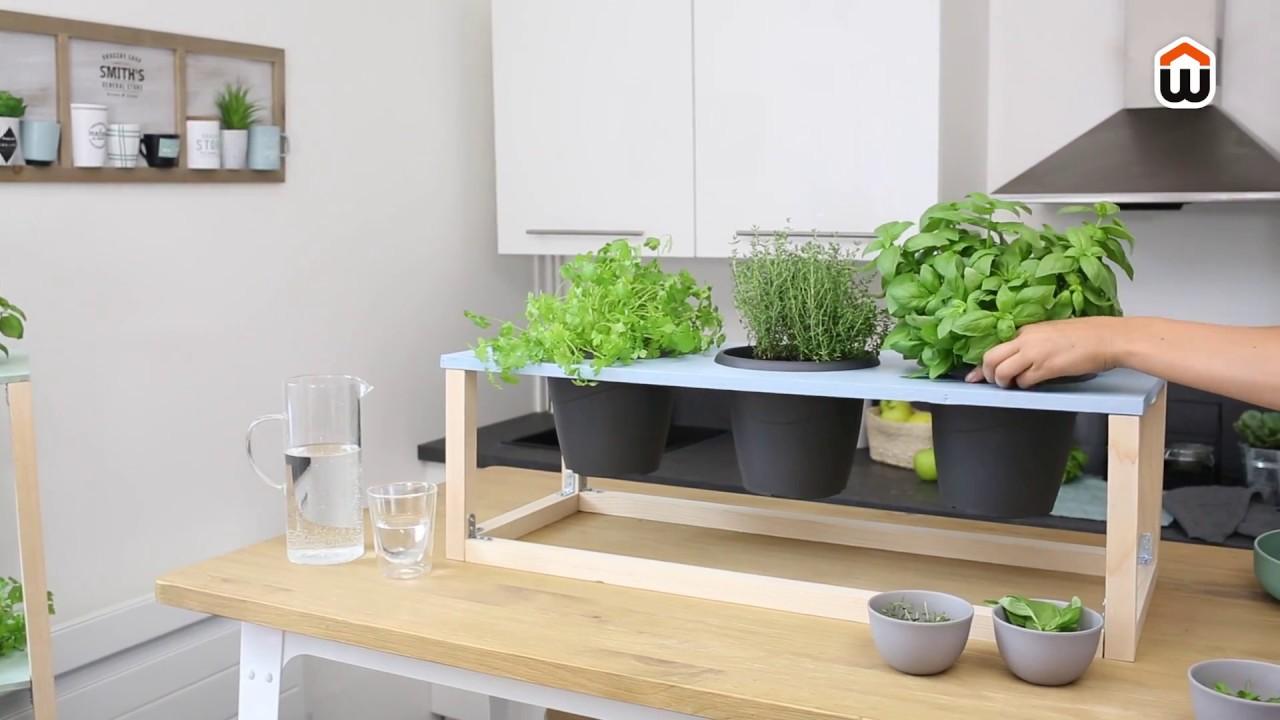 Plantes Aromatiques En Jardinière diy jardinière en bois – porte-plantes aromatiques