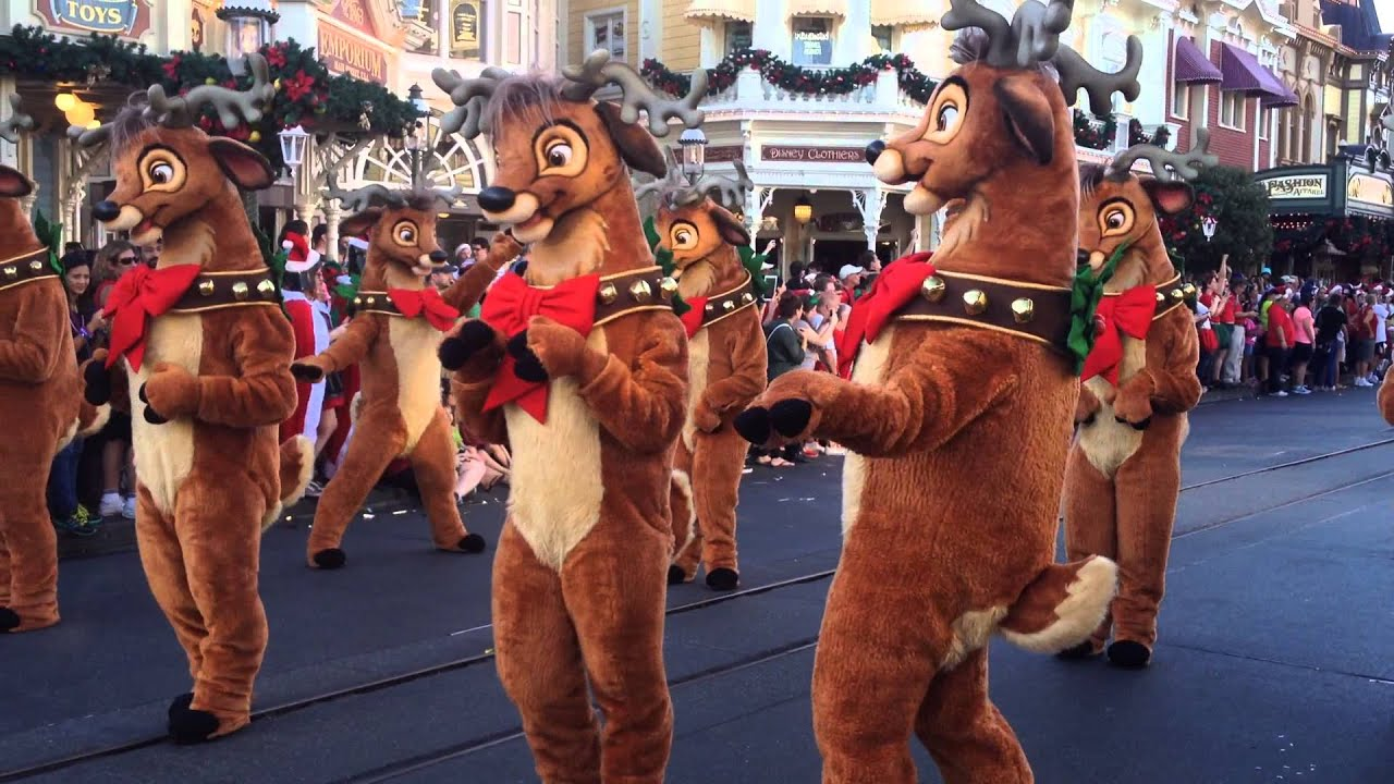 disney parks christmas day parade taping reindeer segment