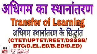अधिगम का स्थानांतरण/ Transfer of Learning/ RS Tutorial