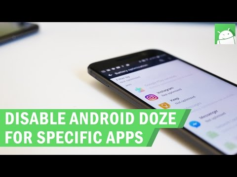 How to disable Android's Doze battery optimization for specific apps