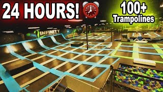 ⏰24 Hours⏰ ALONE In The WORLDS BIGGEST Trampoline Park !!! | JOOGSQUAD PPJT