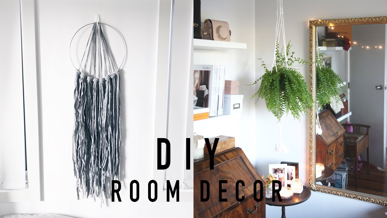 Diy Room Decor Ideas 2018 Cheap Easy Pinterest Inspired Youtube
