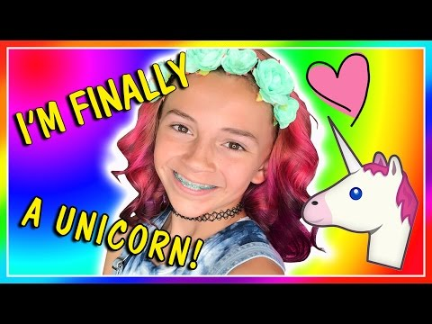 KAYLA FINALLY BECOMES A UNICORN! | MY NEW UNICORN HAIR | We Are The Davises