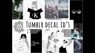 tumblr decal id's (bienvenue à bloxburg)
