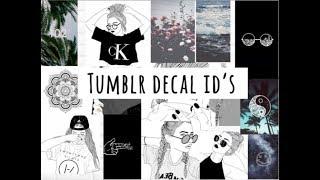 tumblr decal id's (welcome to bloxburg)