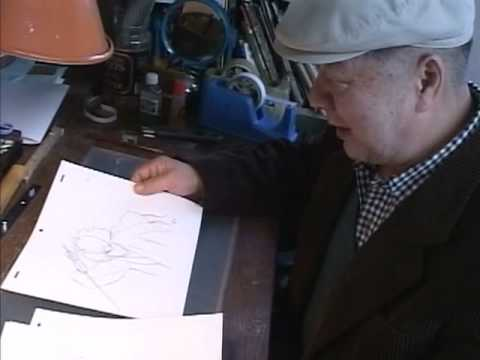 Yasuo Otsuka drawing key animation 8x speed